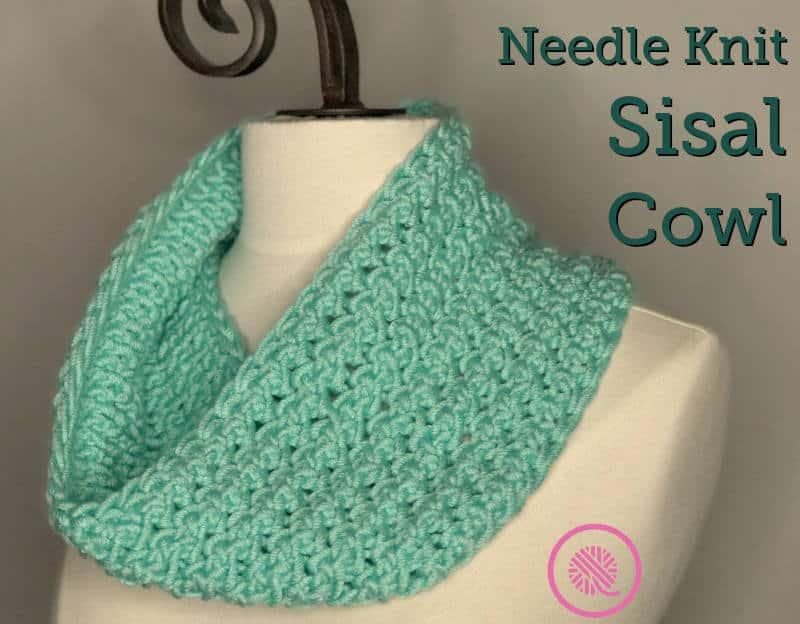 Needle Knit Sisal Cowl