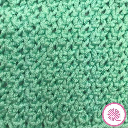 Needle Knit Sisal Cowl closeup