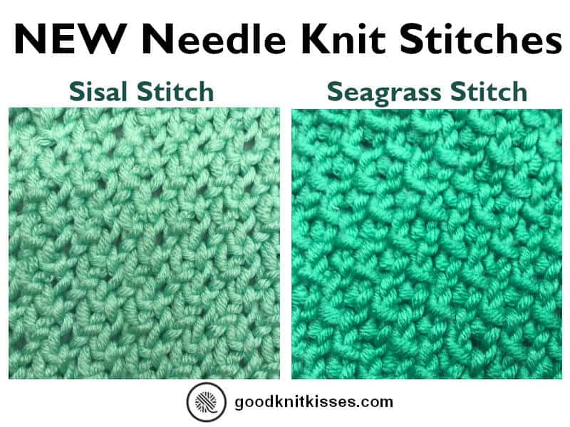 Needle Knit Sisal and Seagrass Stitches