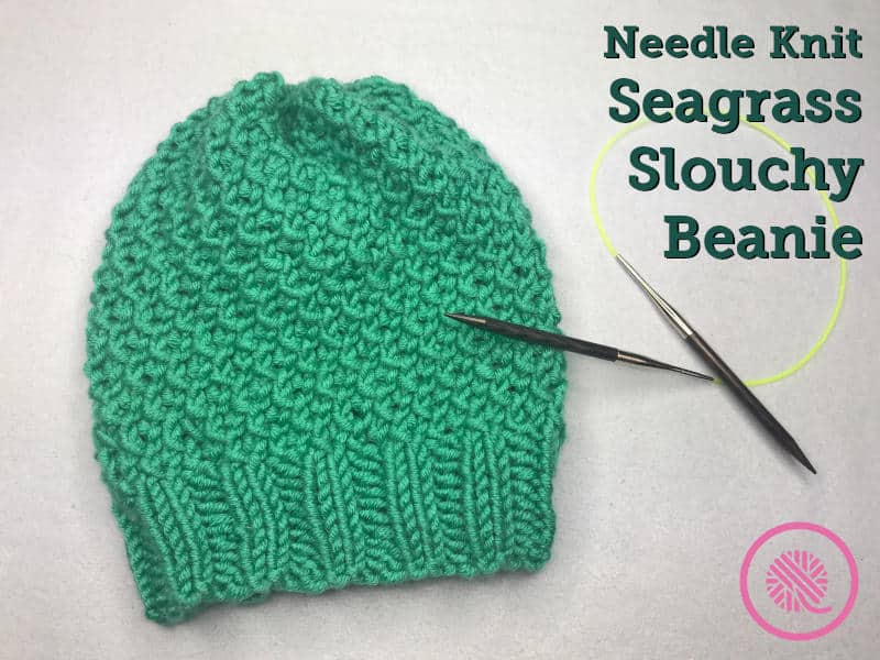 Needle Knit Seagrass Slouchy Hat