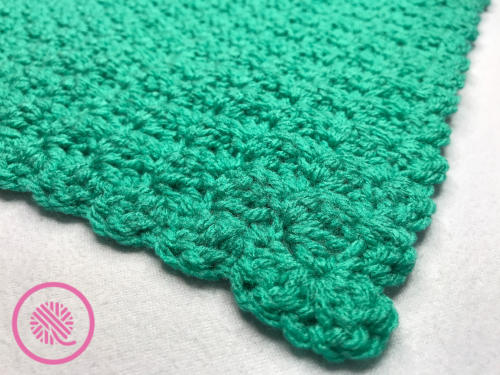 crochet marshmallow stitch blanket border