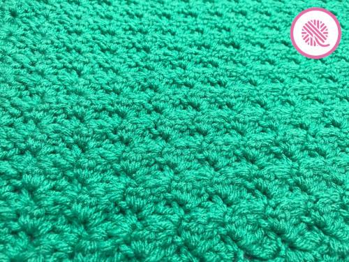 crochet marshmallow stitch closeup