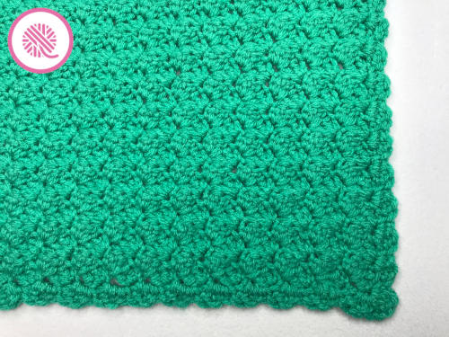 crochet marshmallow stitch blanket finished pic