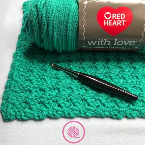 crochet marshmallow stitch blanket supplies
