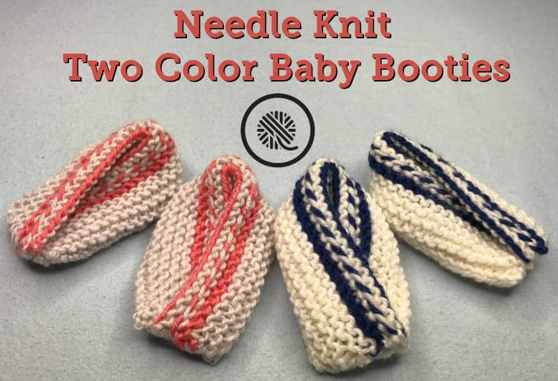 Knit Two Color Baby Booties To Make Sure Your Baby Has Cozy Toes