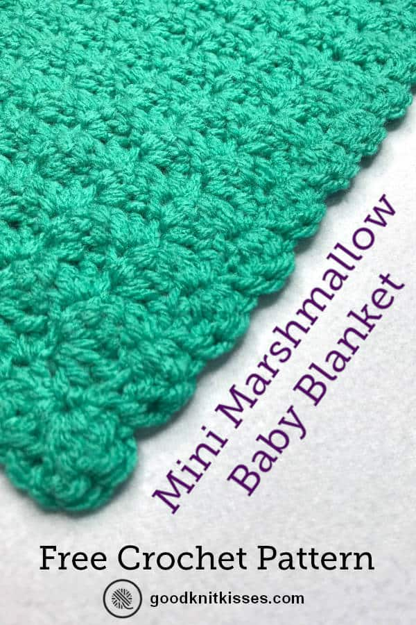 crochet marshmallow stitch blanket pin