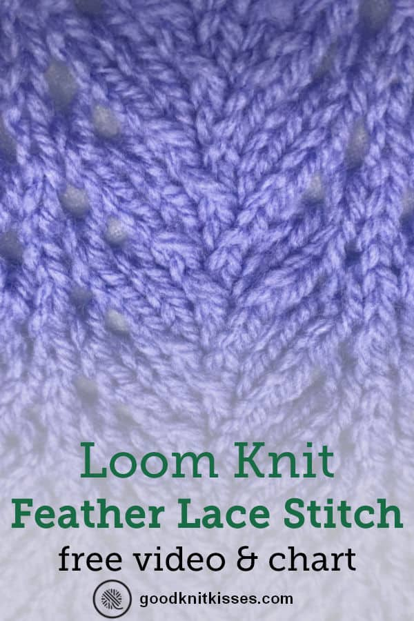 feather lace stitch close up pin image
