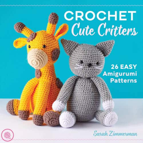 crochet cute critters book cover