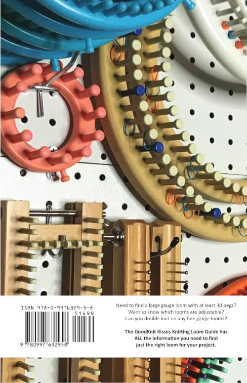Knitting Loom Guide Back Cover