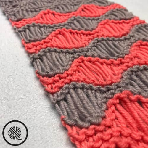 loom knit sea foam stitch