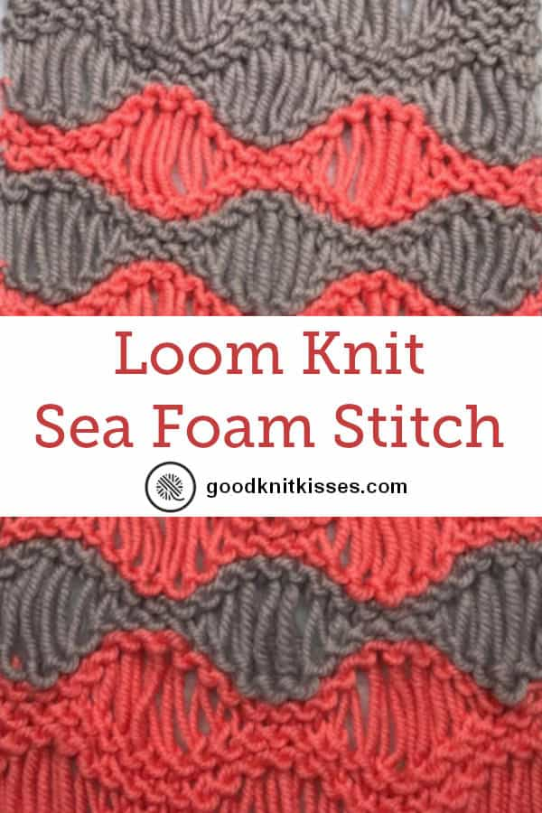 loom knit sea foam stitch pin image