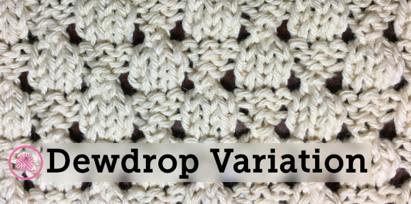 dewdrop washcloth variation header