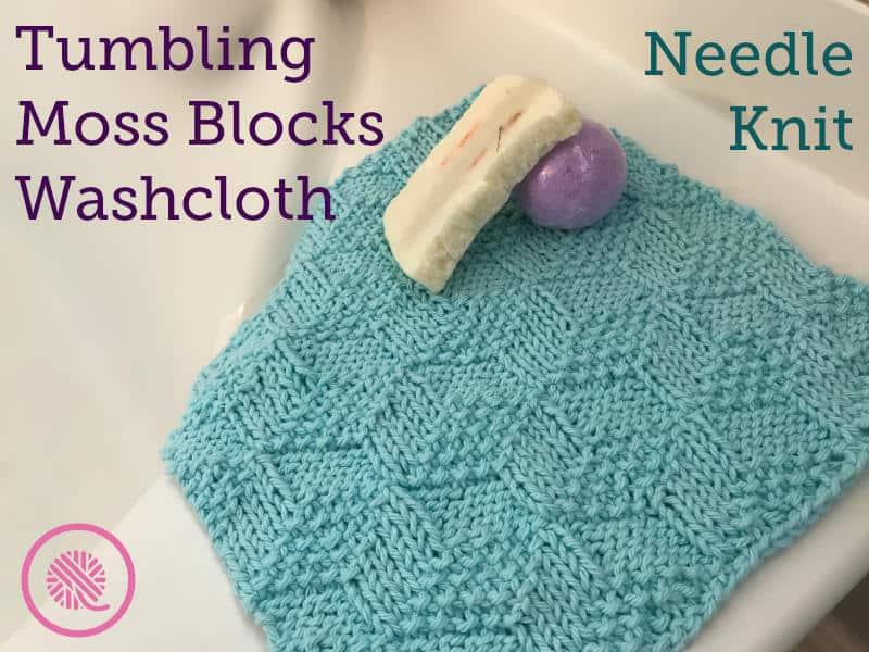 Go head over heels for the Tumbling Blocks Washcloth!