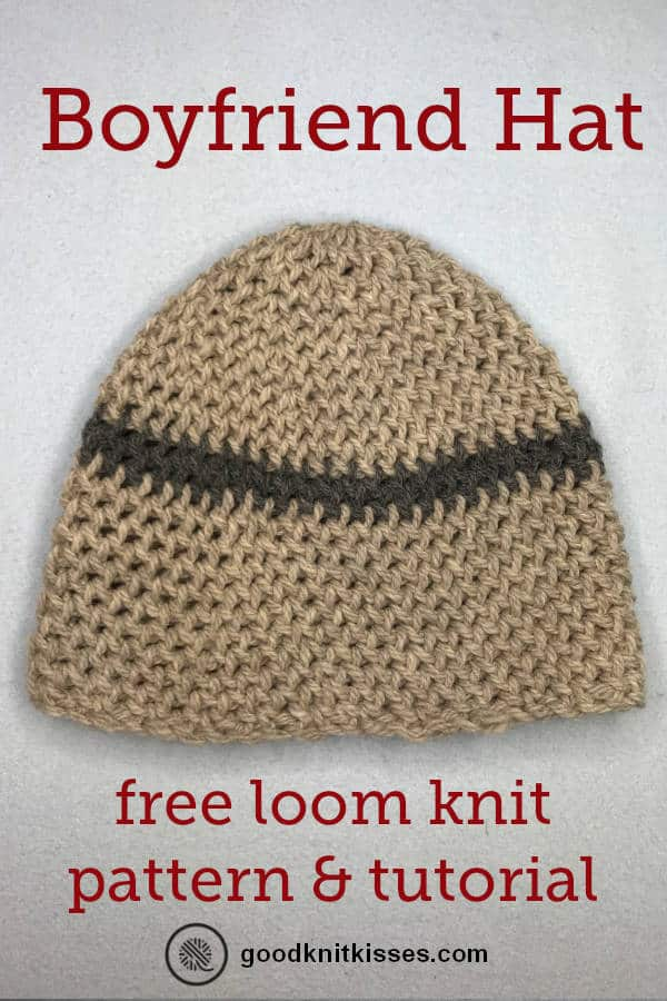 loom knit boyfriend hat pin image