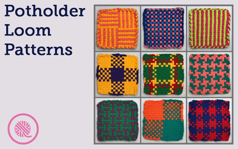 Weave 9 Beautiful, Colorful Hot Pads with these Free Patterns