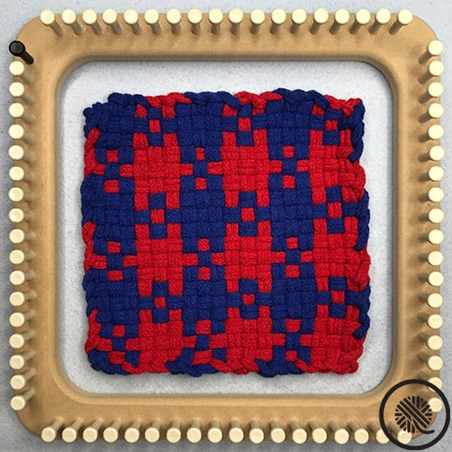 Large Houndstooth Woven Hot Pad Pattern