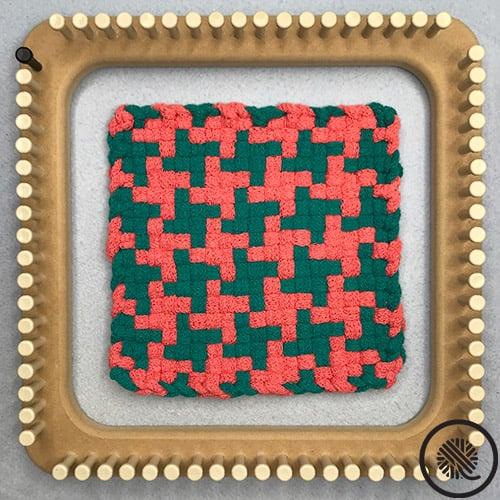 Pinwheel Woven Hot Pad Pattern