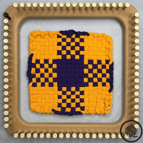 Plaid Checkerboard Woven Hot Pad Pattern