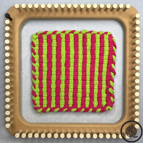 Striped Woven Hot Pad Pattern