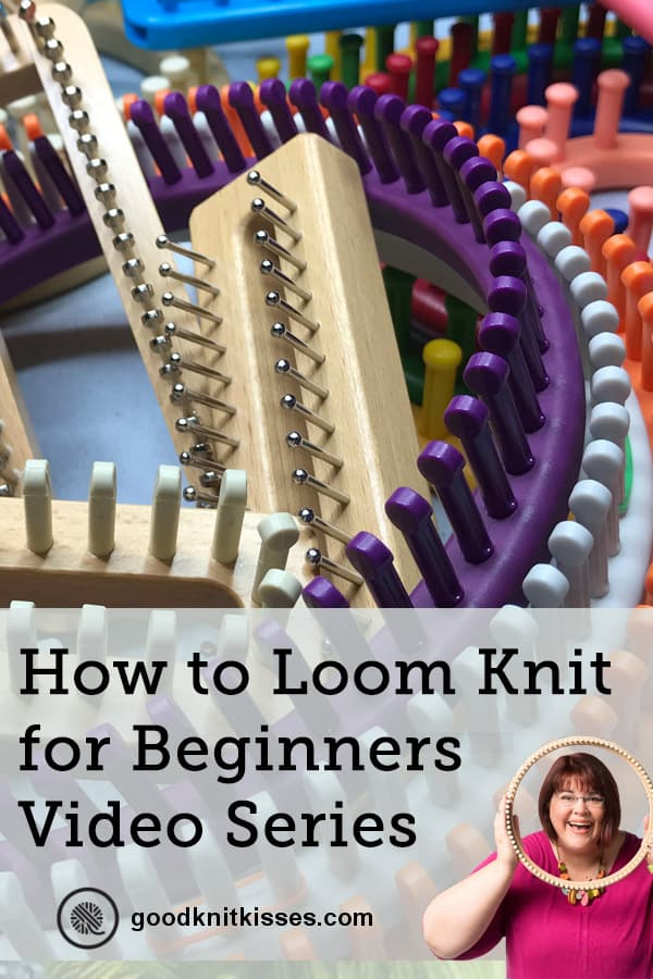 how to loom knit for beginners pin