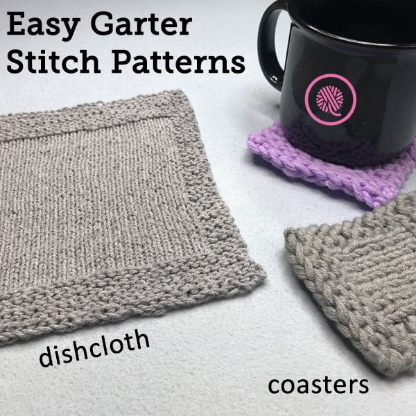 Easy Garter Stitch Patterns for Loom Knitters
