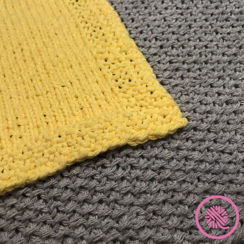 easy seed stitch patterns for loom knitters closeup of dishcloths
