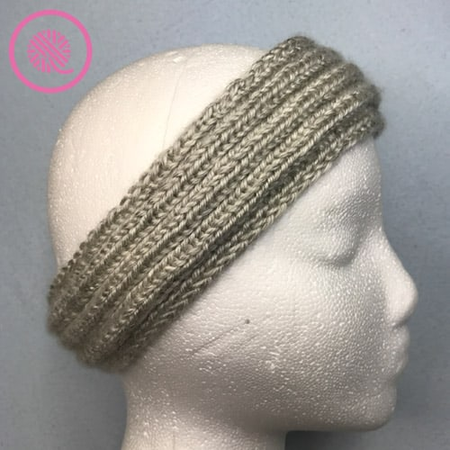 easy ribbed headband on mannequin