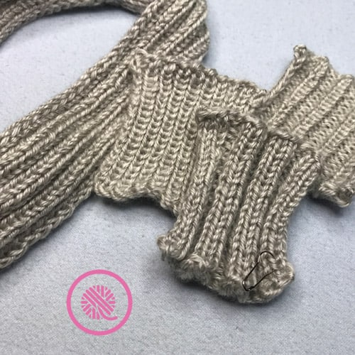 how to knit ribbing rib stitch comparison