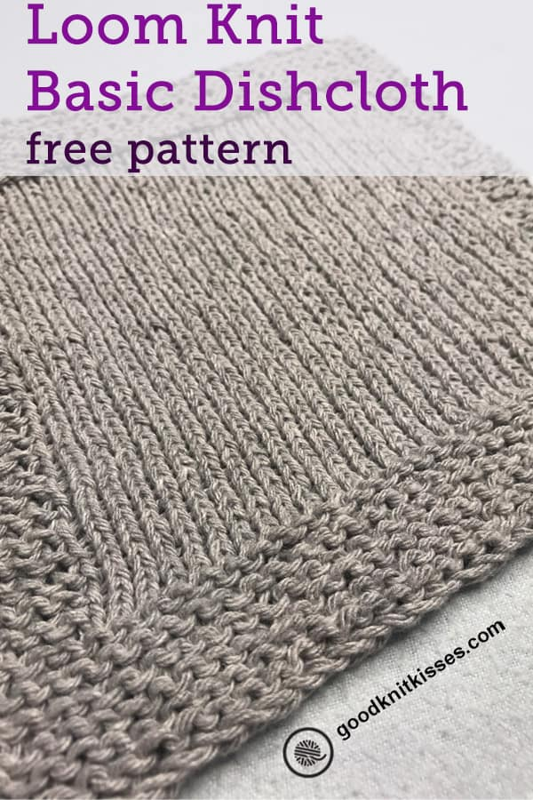 easy garter stitch patterns for loom knitters Basic Dishcloth pin image