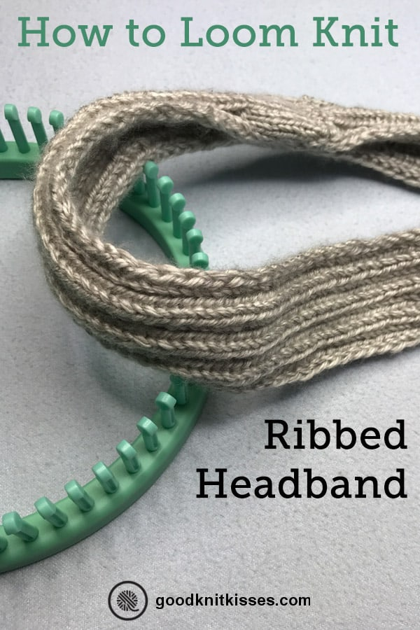 Easy Ribbed headband pin image