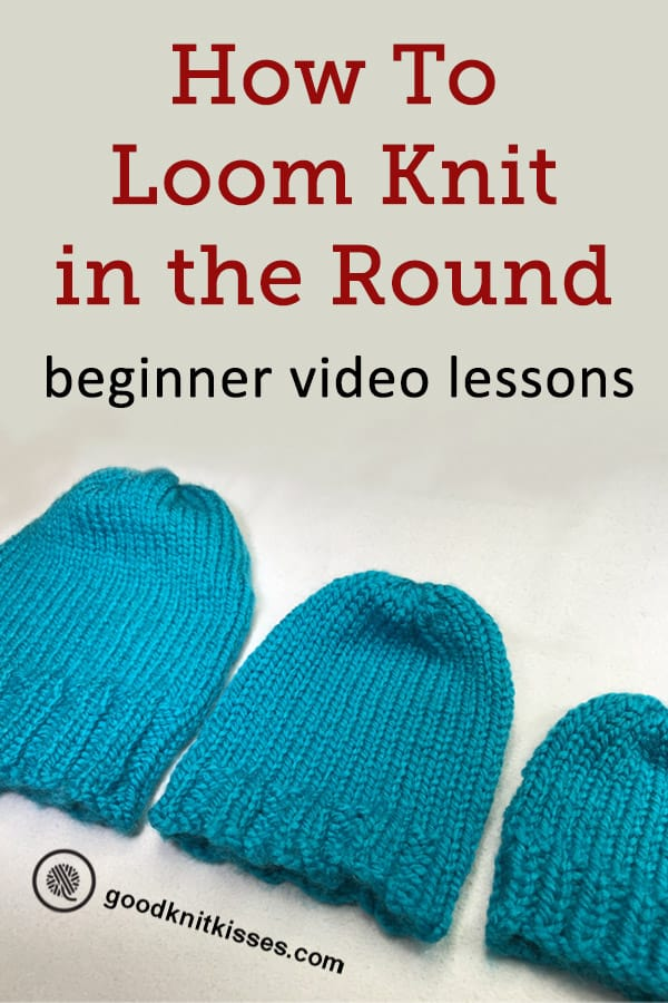 how to loom knit in the round pin image
