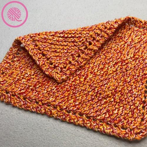knit Grandmas Favorite Dishcloth sample