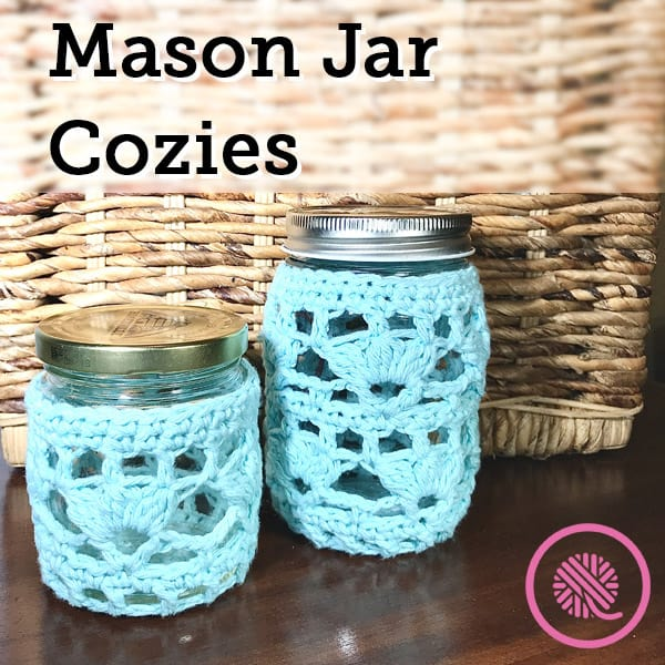 Get Organized with this Free Jar Cozie Crochet Pattern!