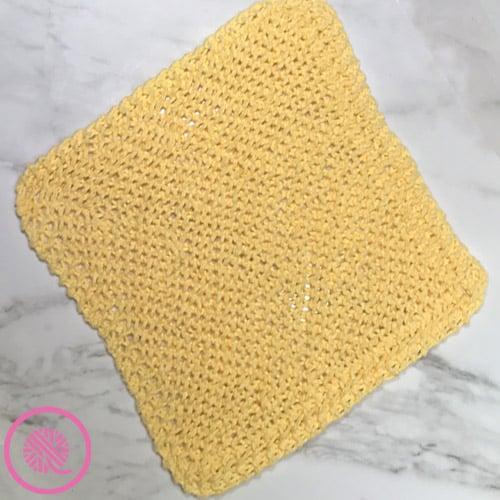 loom knit grandma's favorite dishcloth