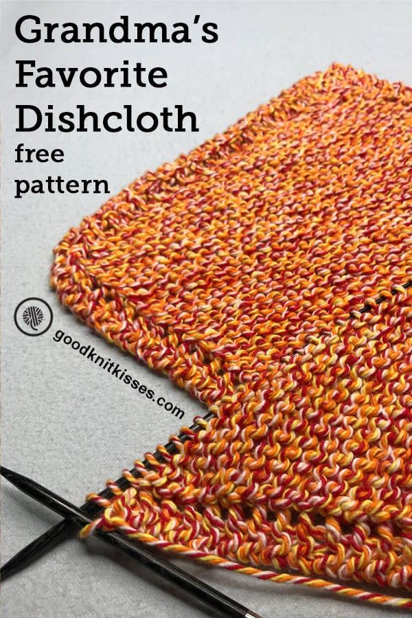 knit grandmas favorite dishcloth pin image