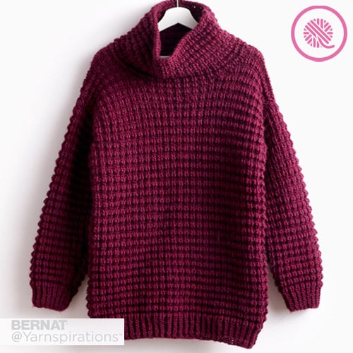 Easy Going Knit Pullover in color Plum