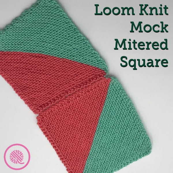 Create unique designs on your loom with the Mock Mitered Square!