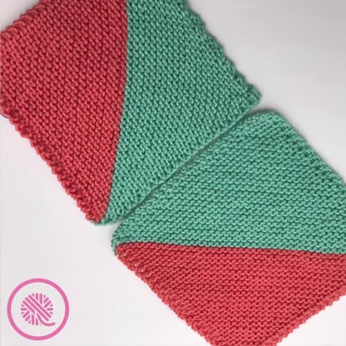 loom knit mock mitered squares