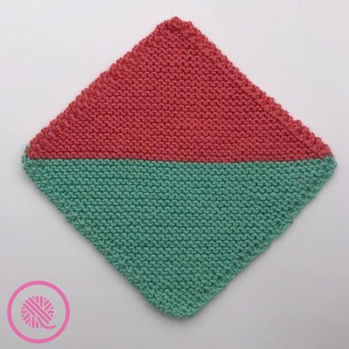 loom knit mock mitered square