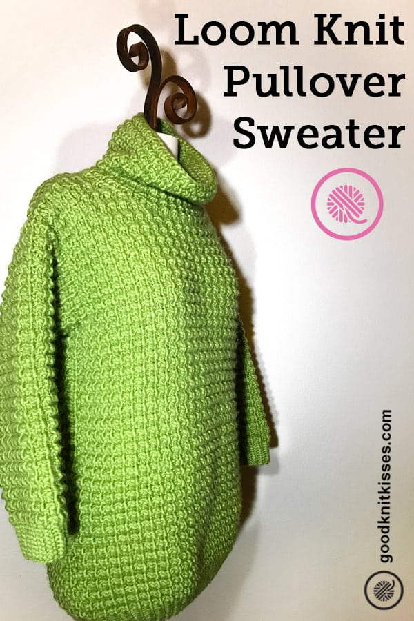Loom Knit Sweater PIN Image