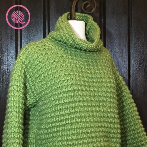 finished loom knit sweater