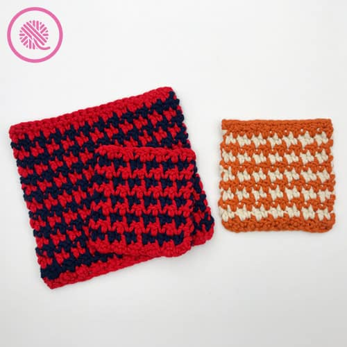how to crochet houndstooth stitch pattern samples