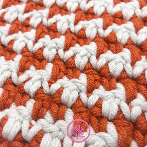 crochet houndstooth closeup