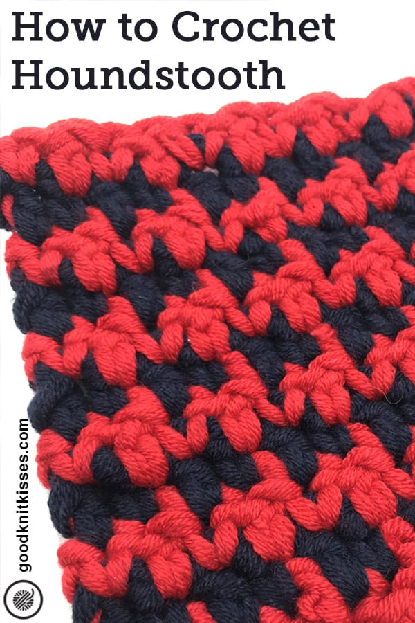 how to crochet houndstooth pin image