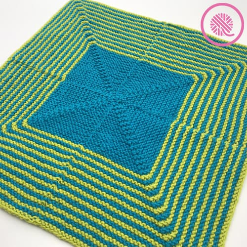 mitered stripes baby blanket and lovey