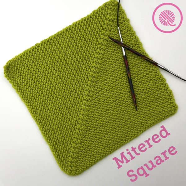 How to Knit a Perfect Mitered Square for Beginners