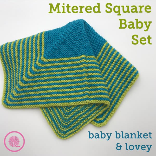 Cuddle Up with the Mitered Stripes Baby Blanket and Lovey!