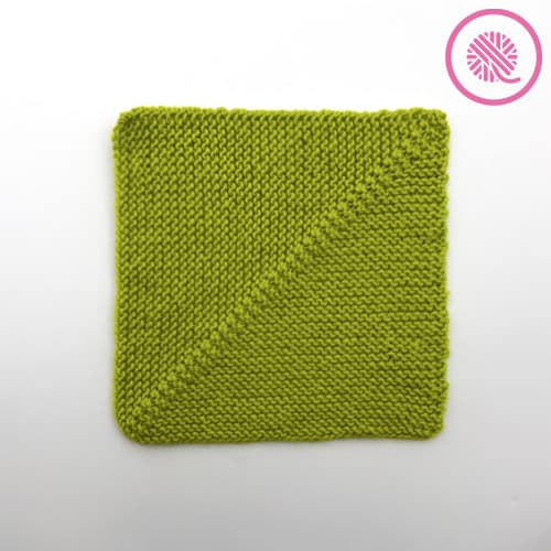 knit mitered square pattern