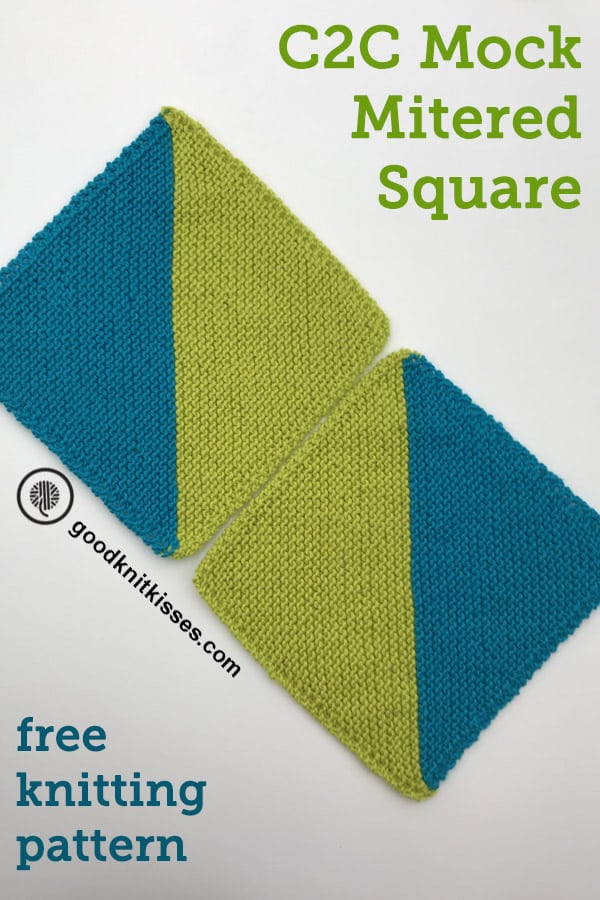 corner to corner two color squares pin image