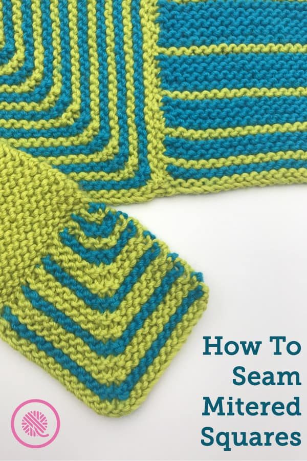 how to seam mitered squares pin